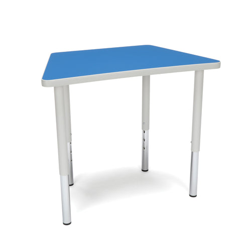 OFM Adapt Series Trapezoid Standard Table - 23-31? Height Adjustable Desk, Blue (TRAP-LL) ; UPC: 845123096666 ; Image 1