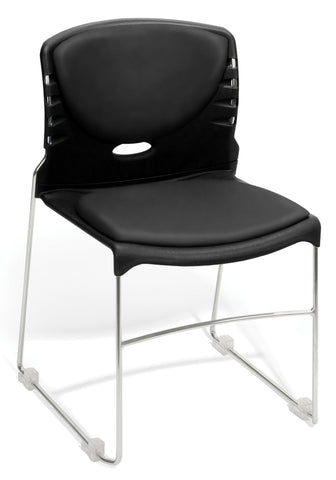 OFM Model 320-VAM Contract Stack Chair with Anti-Microbial/Anti-Bacterial Seat & Back, Black ; UPC: 811588014231 ; Image 1