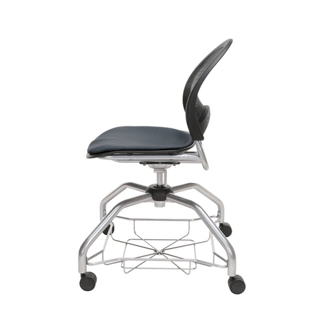 OFM Moon Foresee Series Chair with Removable Fabric Seat Cushion - Student Chair, Slate Gray (339) ; UPC: 845123094464 ; Image 5