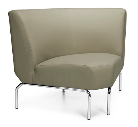 OFM Triumph Series Model 3090 Polyurethane Armless Modular 90 Degree Lounge Chair, Taupe ; UPC: 845123052679 ; Image 1