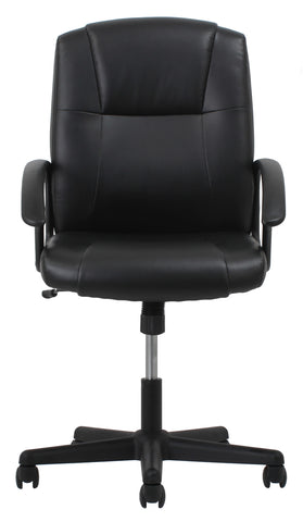 OFM Essentials Collection Executive Office Chair, Bonded Leather, in Black (ESS-6000) ; UPC: 089191013822 ; Image 2