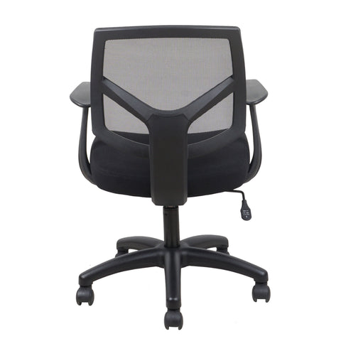 Essentials by OFM ESS-3030 Swivel Mesh Back Task Chair with Arms, Black ; UPC: 089191013549 ; Image 3