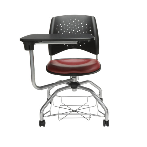 OFM Stars Foresee Series Tablet Chair with Removable Vinyl Seat Cushion - Student Desk Chair, Wine (329T-VAM) ; UPC: 845123094310 ; Image 2