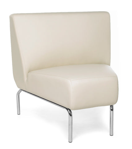 OFM Triumph Series Model 3045 Polyurethane Armless Modular 45 Degree Lounge Chair, Cream ; UPC: 845123052624 ; Image 1