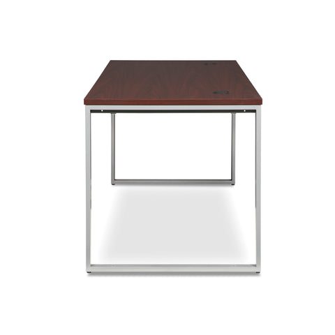OFM Fulcrum Series 66x30 Desk, Minimalistic Modern Office Desk, Mahogany (CL-D6630-MHG) ; UPC: 845123097175 ; Image 5