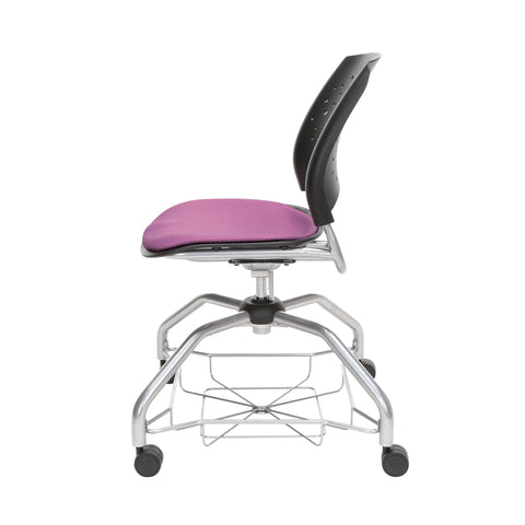 OFM Stars Foresee Series Chair with Removable Fabric Seat Cushion - Student Chair, Plum (329) ; UPC: 845123094037 ; Image 5
