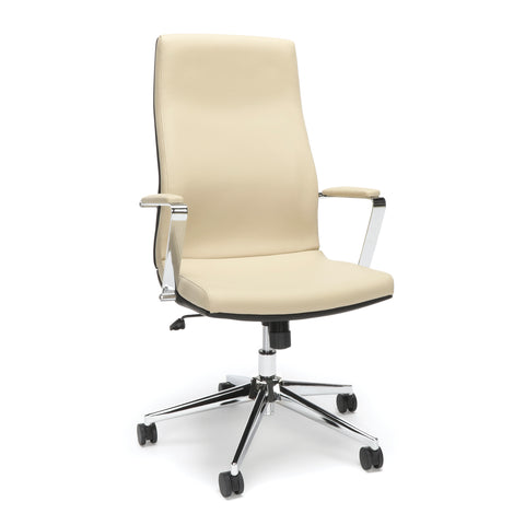 OFM Bonded Leather Manager Chair, High Back Office Chair for Computer Desk - Cream (567-CRM) ; UPC: 845123095973 ; Image 1