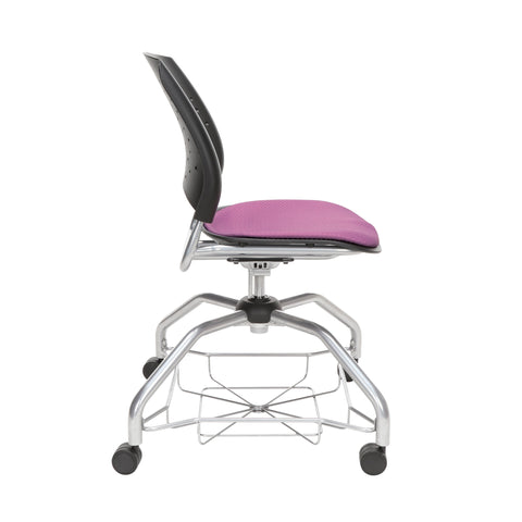 OFM Stars Foresee Series Chair with Removable Fabric Seat Cushion - Student Chair, Plum (329) ; UPC: 845123094037 ; Image 4