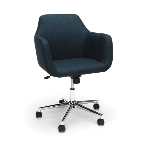 Essentials by OFM ESS-2085 Upholstered Home Office Desk Chair, Blue ; UPC: 845123093115 ; Image 1
