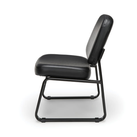 OFM Model 405-VAM Armless Guest and Reception Chair, Anti-Microbial/Anti-Bacterial Vinyl, Black ; UPC: 811588014361 ; Image 5