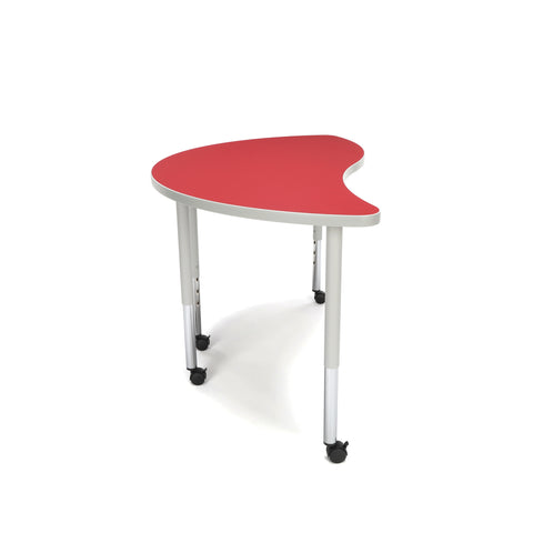 OFM Adapt Series Ying Standard Table - 25-33? Height Adjustable Desk with Casters, Red (YING-LLC) ; UPC: 845123096482 ; Image 5