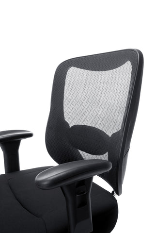 Essentials by OFM ESS-200 Big and Tall Swivel Mesh Office Chair with Arms, Black/Chrome ; UPC: 845123080115 ; Image 7