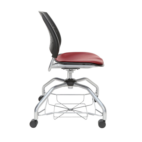 OFM Stars Foresee Series Chair with Removable Vinyl Seat Cushion - Student Chair, Wine (329-VAM) ; UPC: 845123094099 ; Image 4