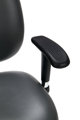 OFM Model 247-VAM 24 Hour Big and Tall Ergonomic Computer Swivel Task Chair with Arms, Anti-Microbial/Anti-Bacterial Vinyl, Charcoal ; UPC: 811588013036 ; Image 7