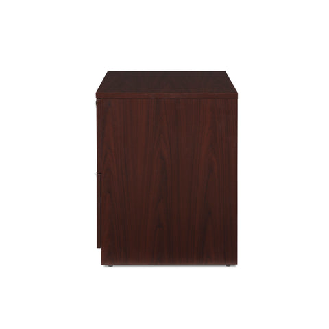 OFM Fulcrum Series Locking Lateral File Cabinet, 2-Drawer Filing Cabinet, Mahogany (CL-L36W-MHG) ; UPC: 845123097571 ; Image 5