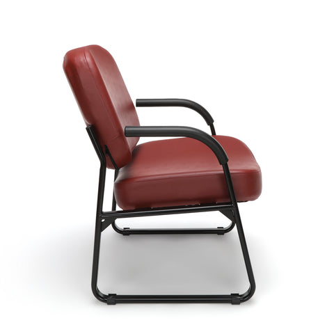 OFM Core Collection Big and Tall Guest and Reception Chair with Arms, Anti-Microbial/Anti-Bacterial Vinyl, in Wine (407-VAM-603) ; UPC: 845123028599 ; Image 4