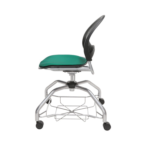 OFM Moon Foresee Series Chair with Removable Fabric Seat Cushion - Student Chair, Shamrock Green (339) ; UPC: 845123094358 ; Image 5