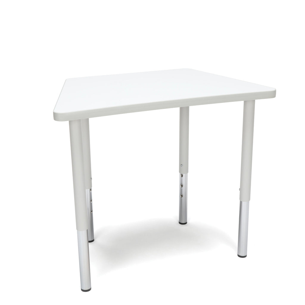 OFM Adapt Series Trapezoid Standard Table - 23-31? Height Adjustable Desk, White (TRAP-LL) ; UPC: 845123096697 ; Image 1