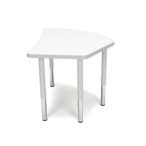 OFM Adapt Series Crescent Student Table - 18-26? Height Adjustable Desk, White (CREST-SL) ; UPC: 845123096291 ; Image 5