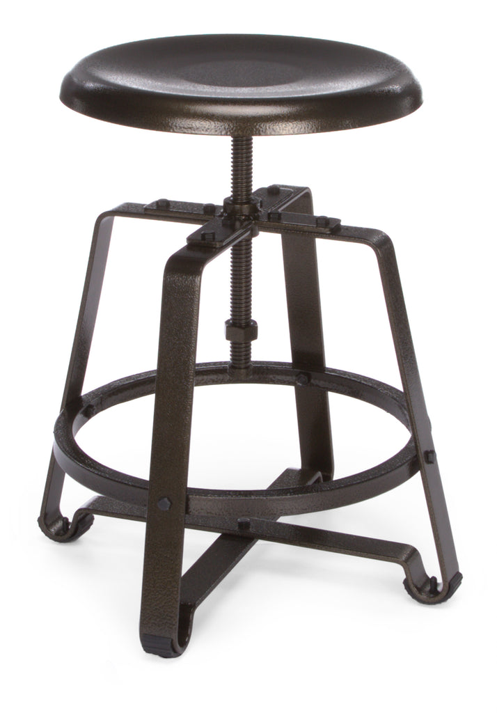 OFM Endure Series Model 921 Stationary Small Stool, Dark Vein Metal Seat and Frame ; UPC: 845123034408 ; Image 1