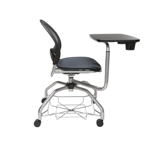 OFM Moon Foresee Series Tablet Chair with Removable Fabric Seat Cushion - Student Desk Chair, Slate Gray (339T) ; UPC: 845123094686 ; Image 4