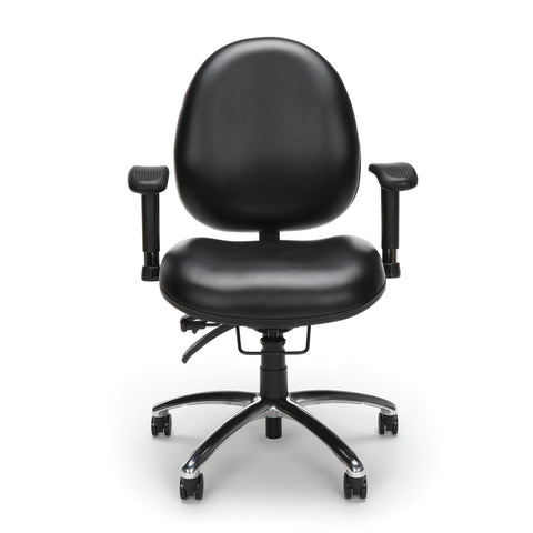 OFM Model 247-VAM 24 Hour Big and Tall Ergonomic Computer Swivel Task Chair with Arms, Anti-Microbial/Anti-Bacterial Vinyl, Black ; UPC: 811588013050 ; Image 2