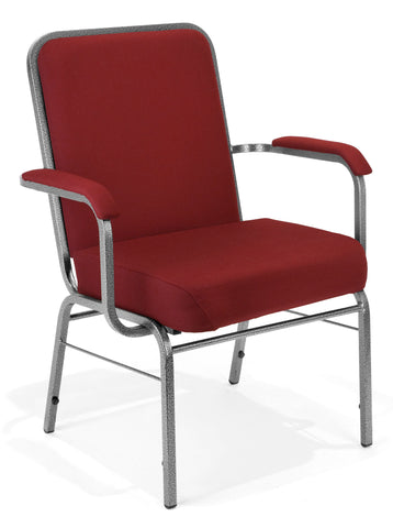 OFM Big and Tall Comfort Class Series Fabric Arm Chair, Wine ; UPC: 845123004029 ; Image 1