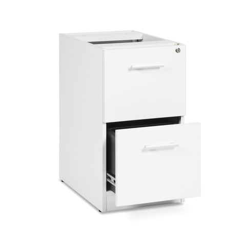 OFM Fulcrum Series Locking Pedestal, 2-Drawer Filing Cabinet, White (CL-FF-WHT) ; UPC: 845123097472 ; Image 6