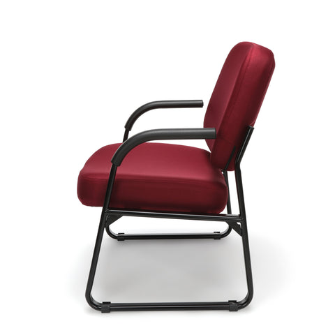 OFM Model 407 Fabric Big and Tall Guest and Reception Chair with Arms, Wine ; UPC: 845123028568 ; Image 5