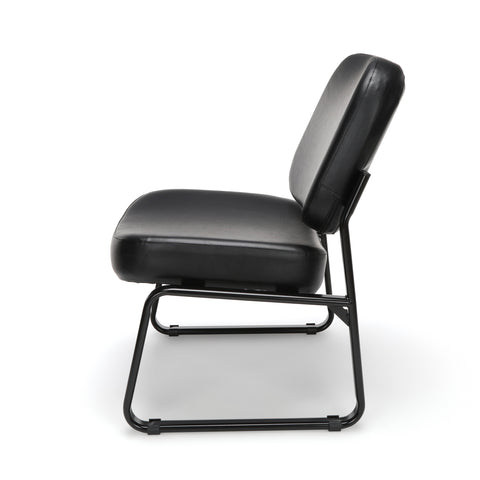 OFM Model 409-VAM Big and Tall Armless Guest and Reception Chair, Anti-Microbial/Anti-Bacterial Vinyl, Black ; UPC: 845123028704 ; Image 5