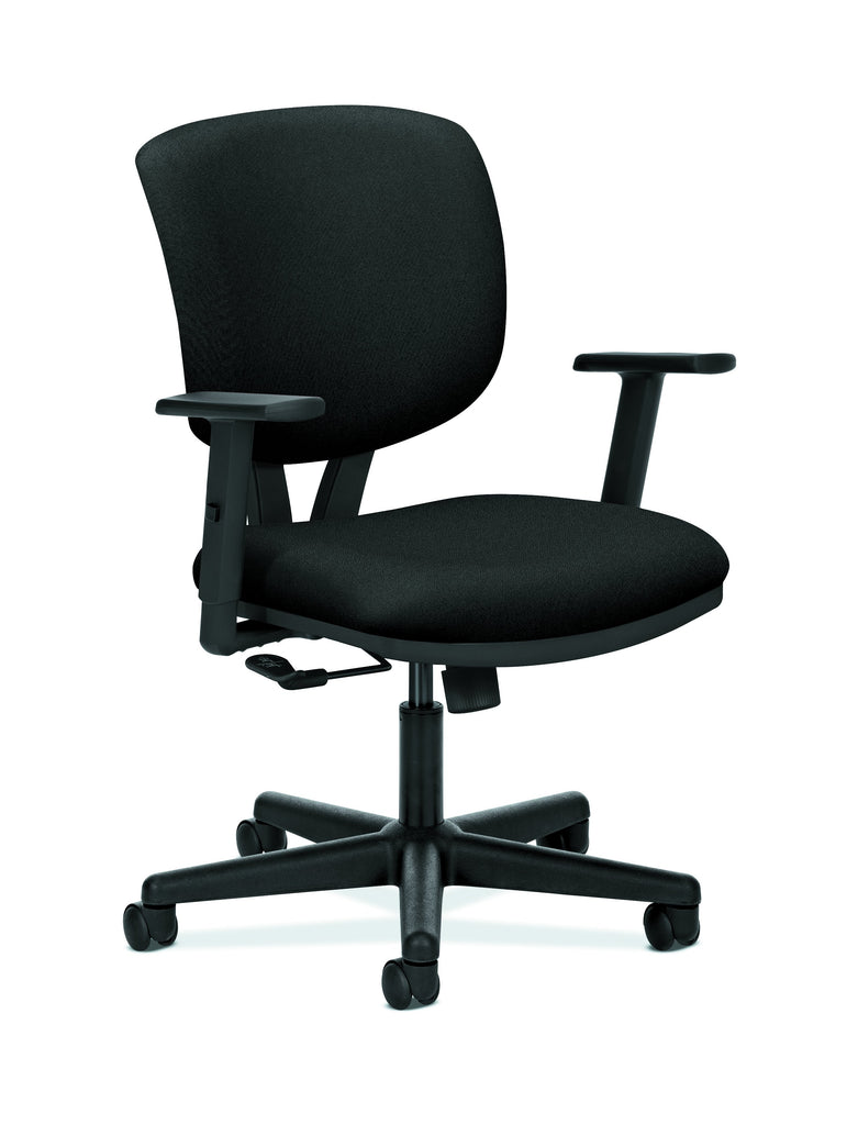 HON Volt Task Chair | Center-Tilt, Tension, Lock | Adjustable Arms | Black Fabric ; UPC: 192767000987 ; Image 1