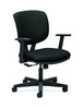 HON Volt Task Chair | Center-Tilt, Tension, Lock | Adjustable Arms | Black Fabric