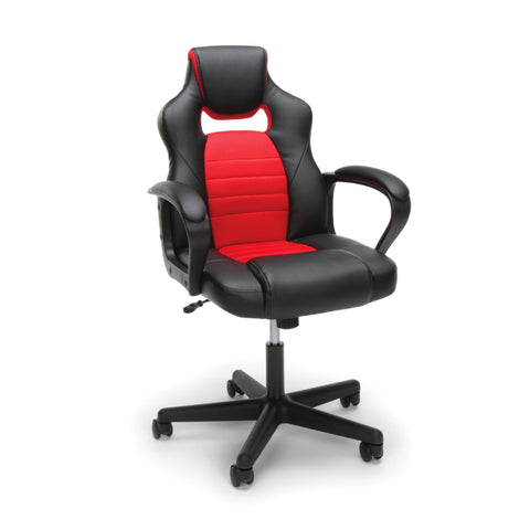 Essentials by OFM ESS-3083 Racing Style Gaming Chair, Red ; UPC: 845123092910 ; Image 1