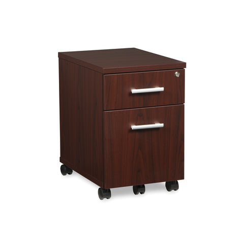 OFM Fulcrum Series Locking Pedestal, Mobile 2-Drawer Filing Cabinet, Mahogany (CL-MBF-MHG) ; UPC: 845123097533 ; Image 1