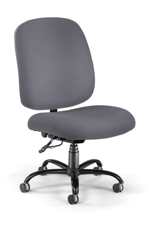 OFM Model 700 Big and Tall Fabric Mid-Back Armless Swivel Task Chair, Gray ; UPC: 811588015412 ; Image 1