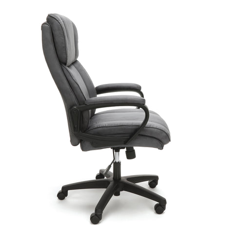 Essentials by OFM ESS-3081 Plush High-Back Microfiber Office Chair, Gray ; UPC: 845123095263 ; Image 4