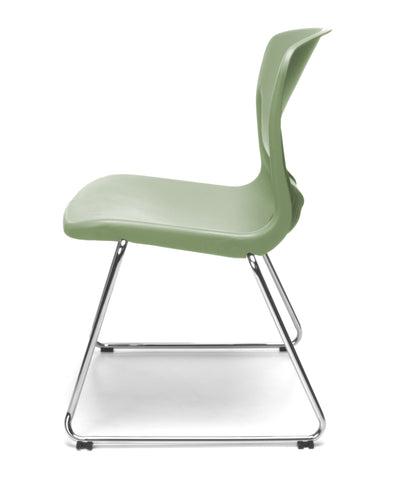 OFM Model 315 Multi-Use Stack Chair, Plastic Seat and Back, Olive ; UPC: 845123034774 ; Image 5