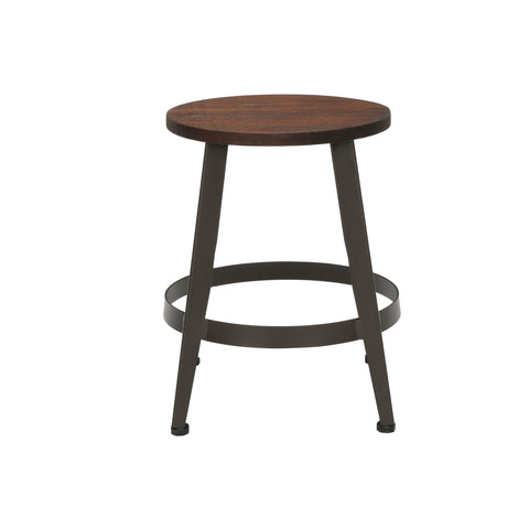 "OFM Core Collection Edge Series 18"" Table Height Metal Stool, in Walnut (33918W-WLT) ; UPC: 192767002431 ; Image 3"