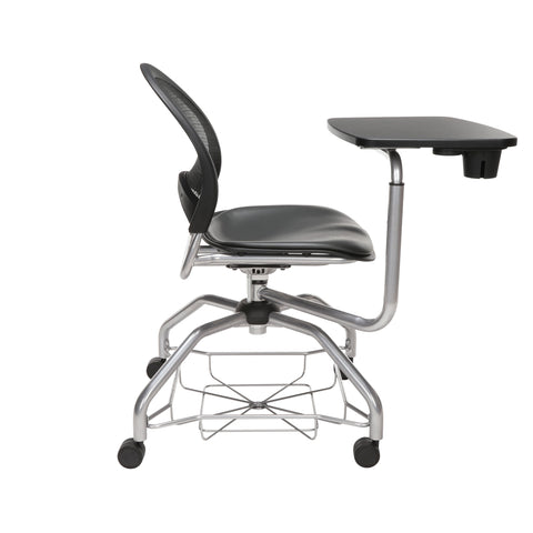 OFM Moon Foresee Series Tablet Chair with Removable Vinyl Seat Cushion - Student Desk Chair, Charcoal (339T-VAM) ; UPC: 845123094761 ; Image 4