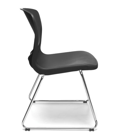 OFM Model 315 Multi-Use Stack Chair, Plastic Seat and Back, Black ; UPC: 845123003664 ; Image 4
