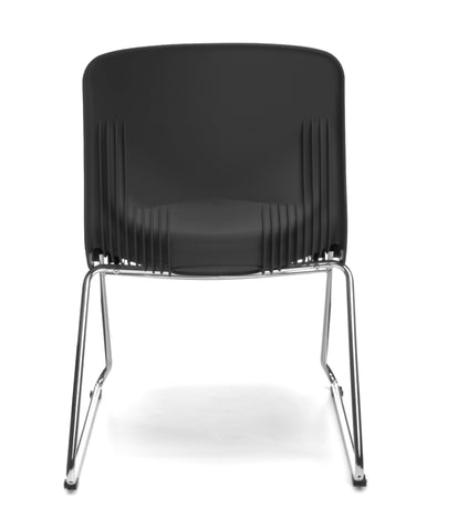OFM Model 315 Multi-Use Stack Chair, Plastic Seat and Back, Black ; UPC: 845123003664 ; Image 3