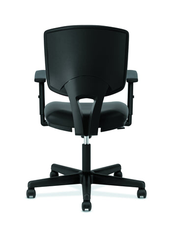 HON Volt Task Chair | Synchro-Tilt, Tension, Lock | Adjustable Arms | Black SofThread Leather ; UPC: 192767001014 ; Image 3