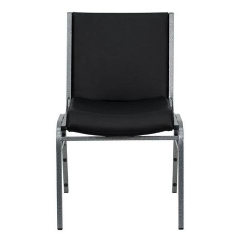 Flash Furniture HERCULES Series Heavy Duty Black Vinyl Stack Chair XU60153BKVYLGG ; Image 4 ; UPC 847254007719
