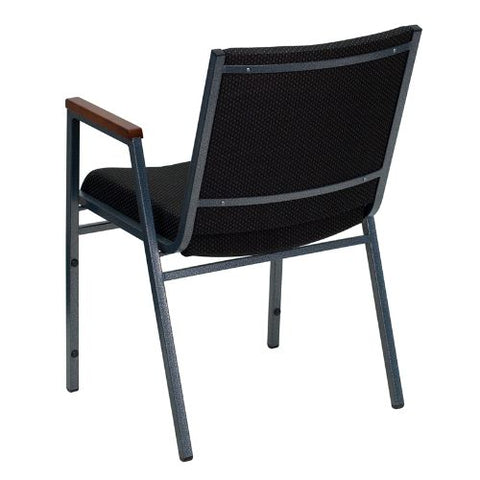 Flash Furniture HERCULES Series Heavy Duty Black Dot Fabric Stack Chair with Arms XU60154BKGG ; Image 3 ; UPC 812581018806
