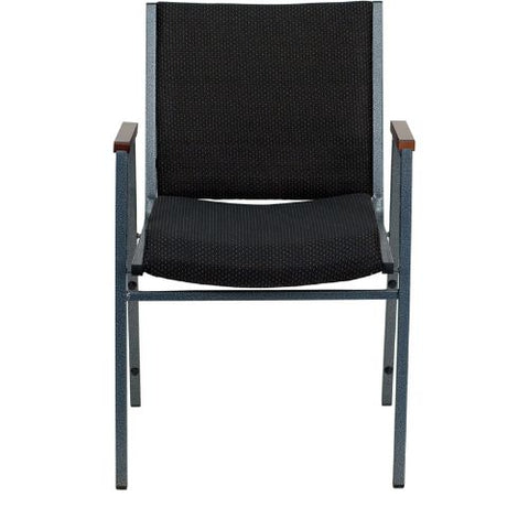 Flash Furniture HERCULES Series Heavy Duty Black Dot Fabric Stack Chair with Arms XU60154BKGG ; Image 4 ; UPC 812581018806