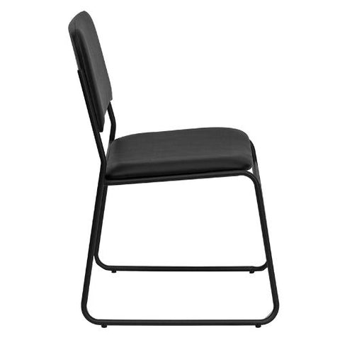 Flash Furniture HERCULES Series 1000 lb. Capacity High Density Black Vinyl Stacking Chair with Sled Base XU8700BLKBVYL30GG ; Image 3 ; UPC 847254007740