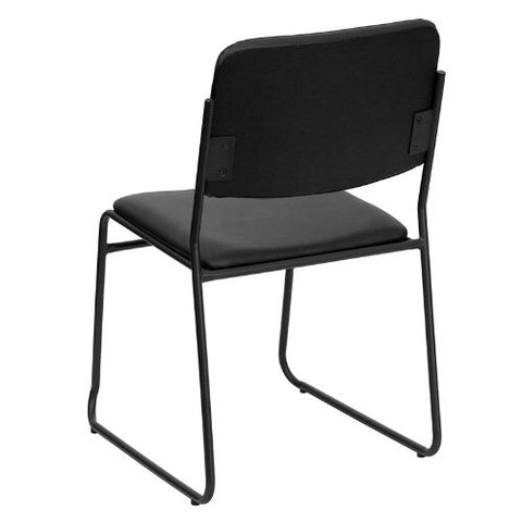 Flash Furniture HERCULES Series 1000 lb. Capacity High Density Black Vinyl Stacking Chair with Sled Base XU8700BLKBVYL30GG ; Image 4 ; UPC 847254007740