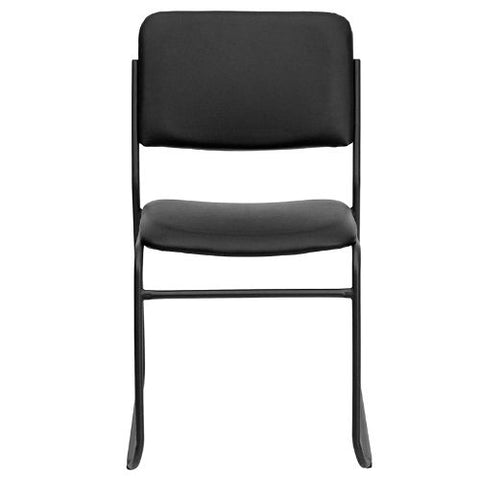 Flash Furniture HERCULES Series 1000 lb. Capacity High Density Black Vinyl Stacking Chair with Sled Base XU8700BLKBVYL30GG ; Image 5 ; UPC 847254007740