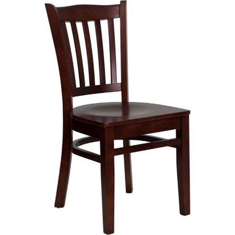 Flash Furniture HERCULES Series Vertical Slat Back Mahogany Wood Restaurant Chair XUDGW0008VRTMAHGG ; Image 1 ; UPC 847254001526
