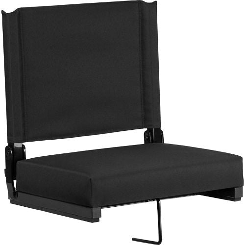 Flash Furniture Grandstand Comfort Seats by Flash with Ultra-Padded Seat in Black XUSTABKGG ; Image 1 ; UPC 889142026143